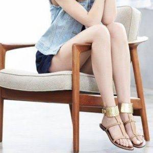 Sam Edelman Gold Cuff Genette Gadiator Sandals